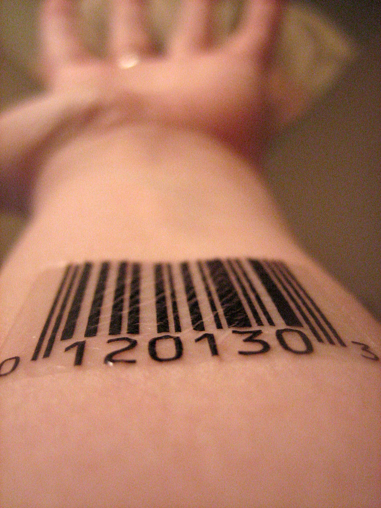 Barcode Tattoo: Barcode Number Tattoos By Scott Blake